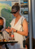 Karlie Kloss enjoys some ice cream with her husband Joshua Kushner while out in Saint-Tropez, France