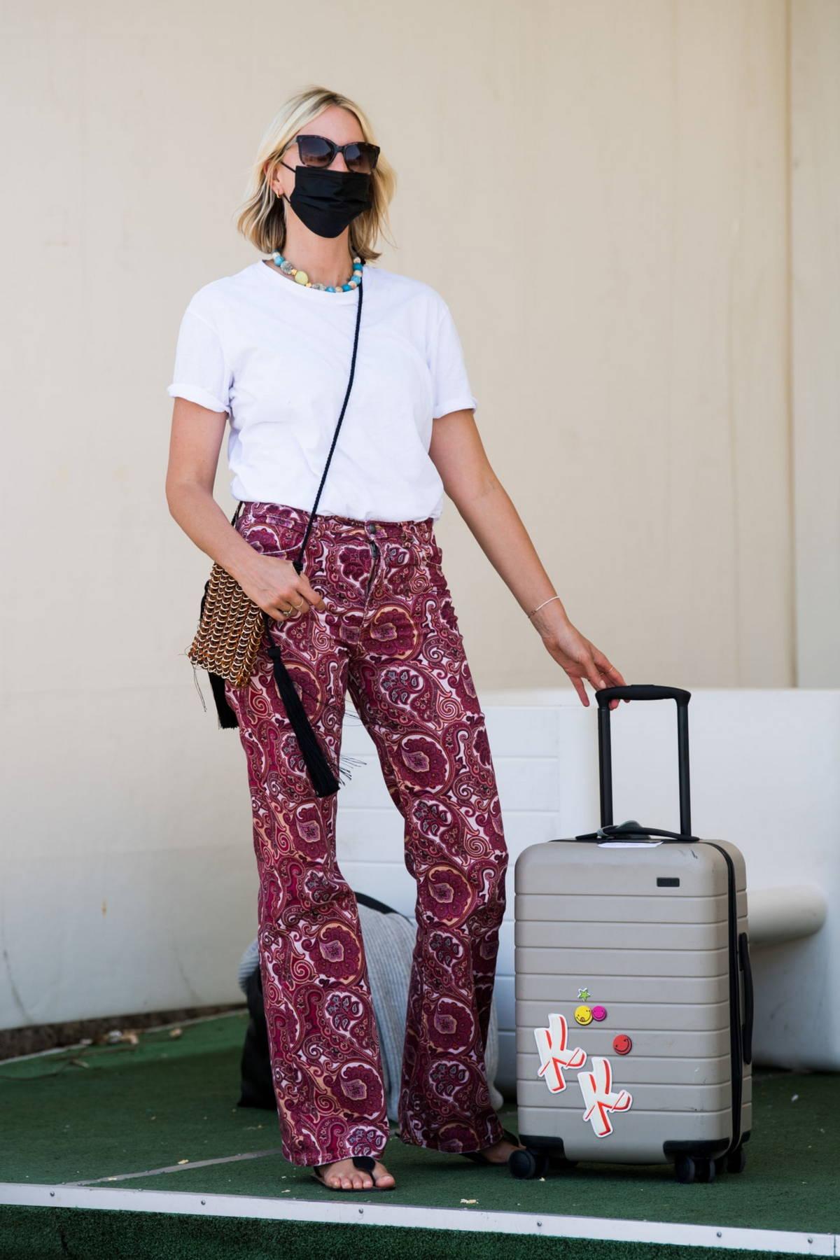 Karolina Kurkova seen arriving in Capri ahead of the UNICEF Italia and LuisaViaRoma Summer Gala in Capri, Italy