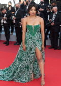 Kat Graham attends the 'Annette' screening and opening ceremony during the 74th annual Cannes Film Festival in Cannes, France