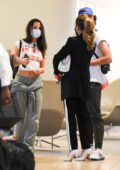 Kate Beckinsale and Lily Mo Sheen seen arriving at the JFK Airport in New York City