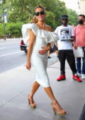 Kate Beckinsale looks radiant in a white dress as she steps out in New York City
