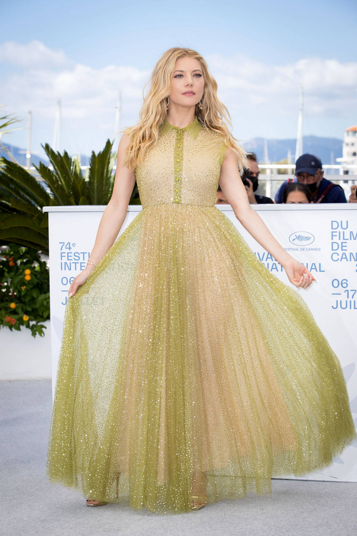 Katheryn Winnick attends the 'Flag Day' photocall during the 74th annual Cannes Film Festival in Cannes, France