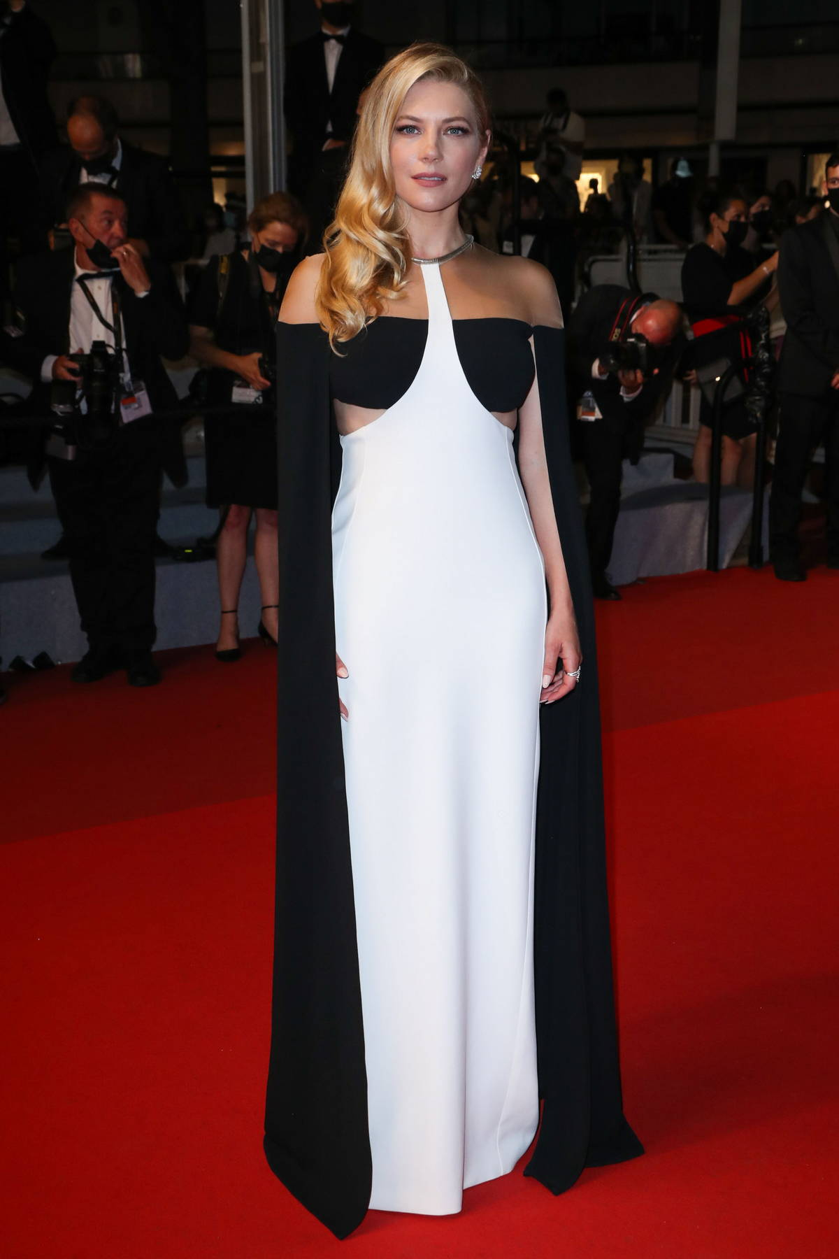 Katheryn Winnick attends the Premiere of 'Flag Day' during the 74th annual Cannes Film Festival in Cannes, France