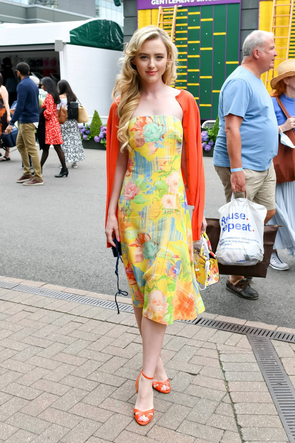 Kathryn Newton attends the Polo Ralph Lauren VIP suite during 2021 Wimbledon in London, UK