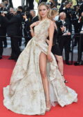 Kimberley Garner attends the screening of 'Tre Piani' during the 74th annual Cannes Film Festival in Cannes, France