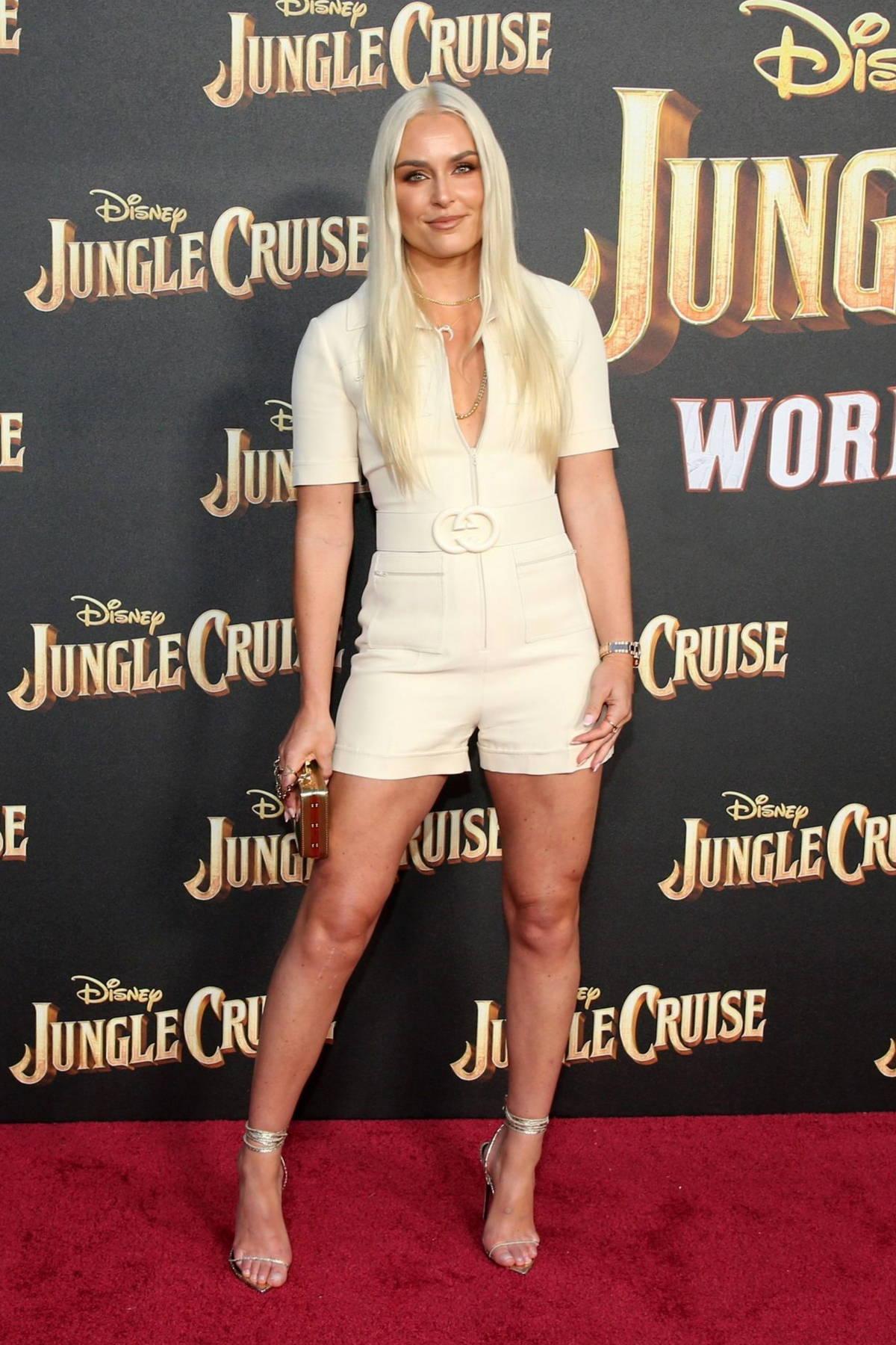 Lindsey Vonn attends the World Premiere Of Disney's 'Jungle Cruise' at Disneyland in Anaheim, California