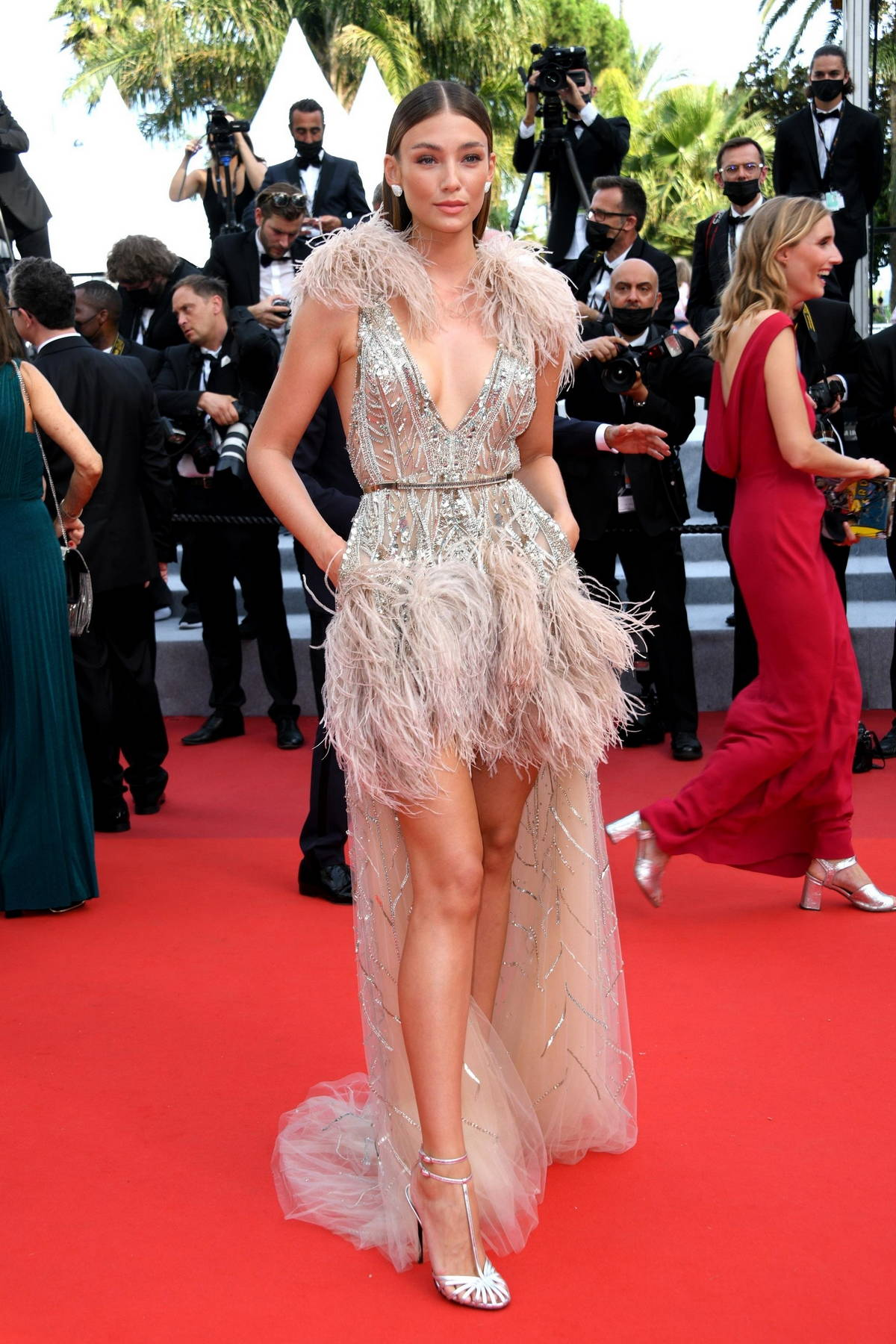 """Lorena Rae attends the """"Tout S'est Bien Passe"""" screening during the 74th annual Cannes Film Festival in Cannes, France"""