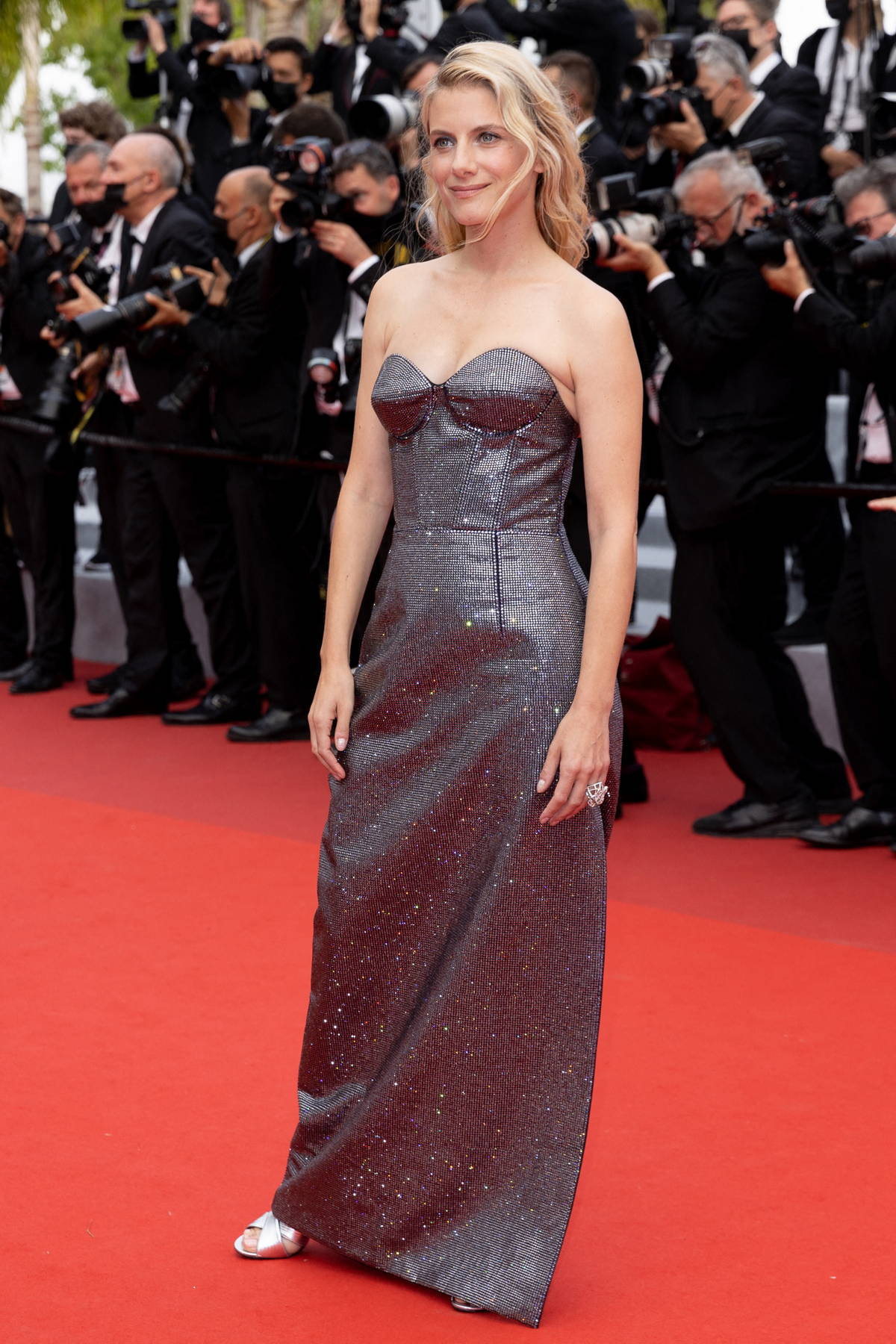 Mélanie Laurent attends the Premiere of 'The French Dispatch' during the 74th annual Cannes Film Festival in Cannes, France