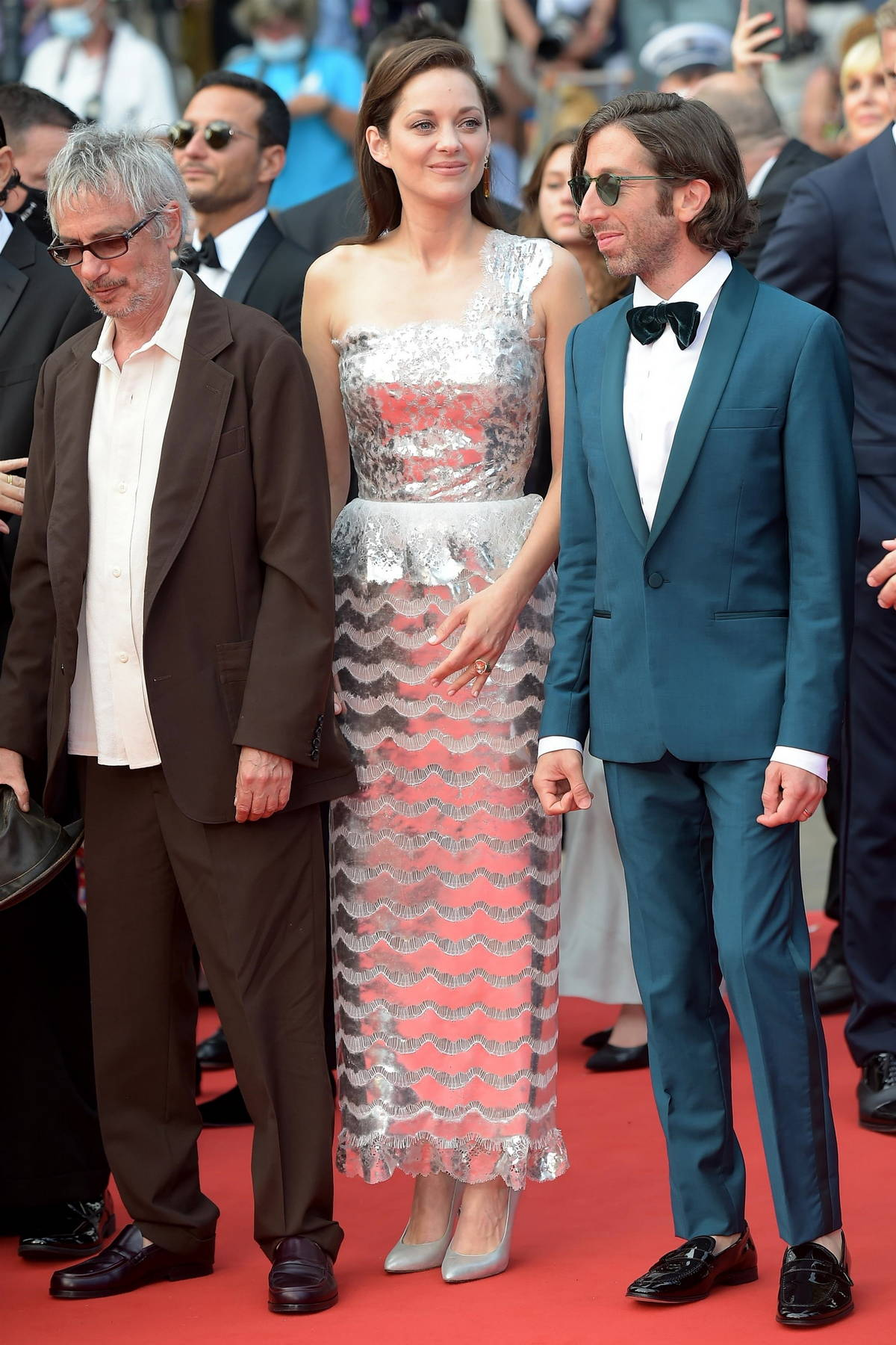 Marion Cotillard attends the 'Annette' screening and opening ceremony during the 74th annual Cannes Film Festival in Cannes, France
