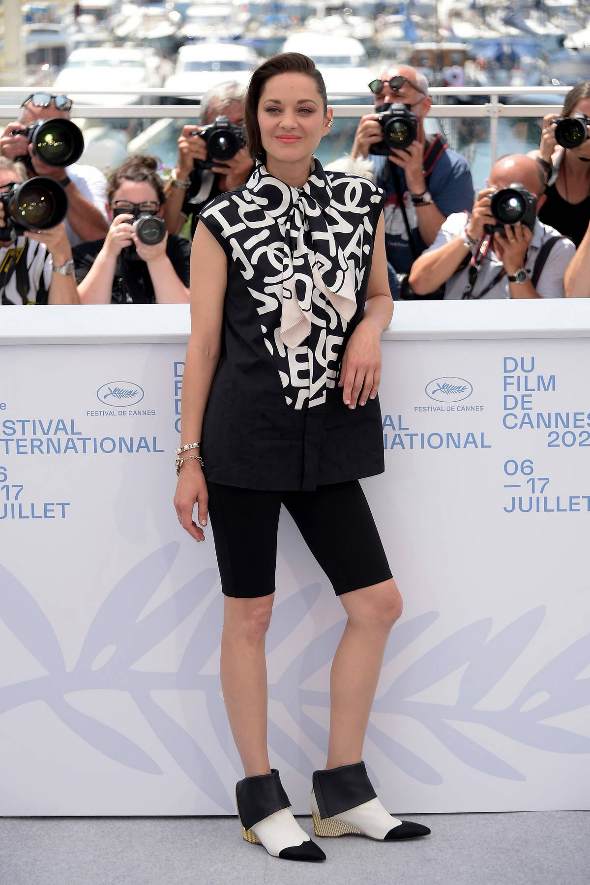 Marion Cotillard attends the 'Annette' photocall during the 74th annual Cannes Film Festival in Cannes, France