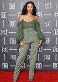 Maya Jama attends the Dazn x Matchroom VIP Launch Event at Kings Cross in London, UK