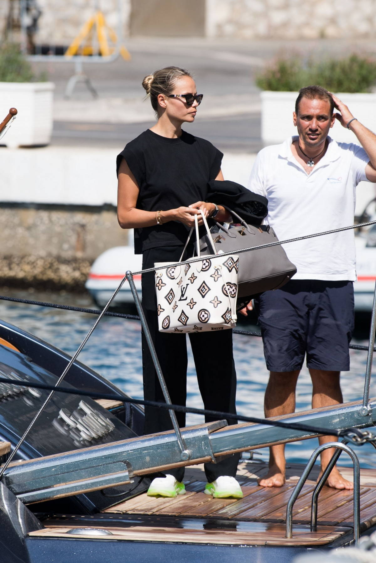 Natasha Poly seen arriving in Capri ahead of the UNICEF Italia and LuisaViaRoma Summer Gala in Capri, Italy
