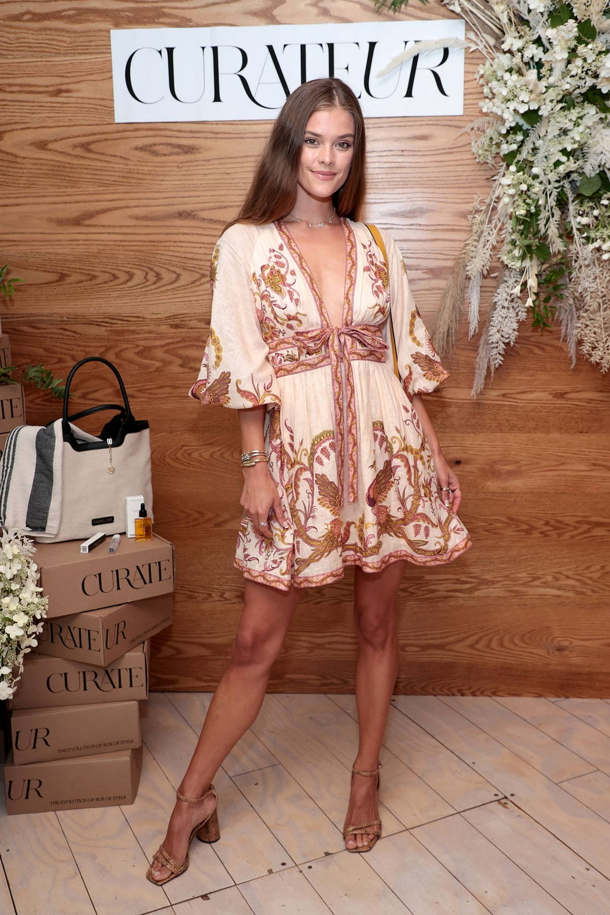 Nina Agdal attends the Curateur launch event in The Hamptons, New York