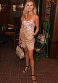Niomi Smart attends the launch of 'Millennial Love' by Olivia Petter in the Library Lounge at The Standard in London, UK