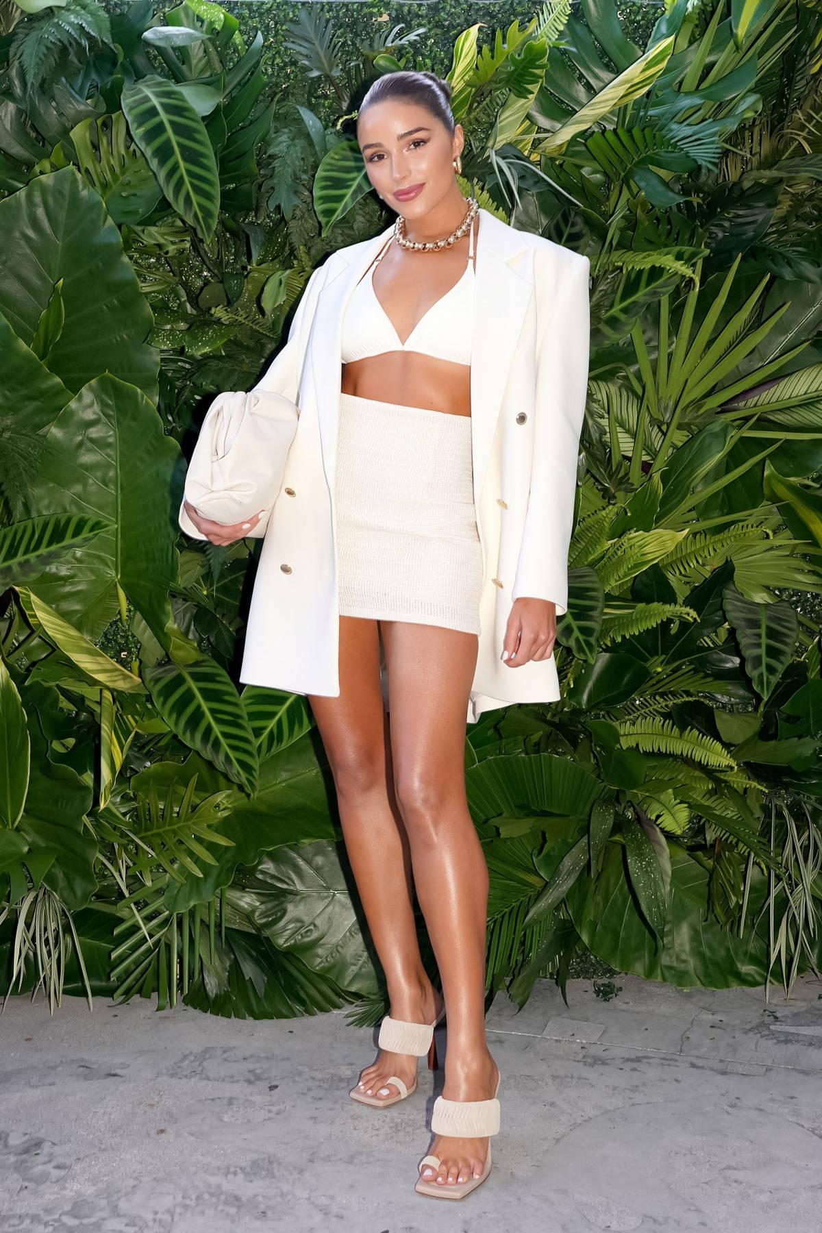 Olivia Culpo attends Celsius Tropical Vibe launch event in Miami, Florida