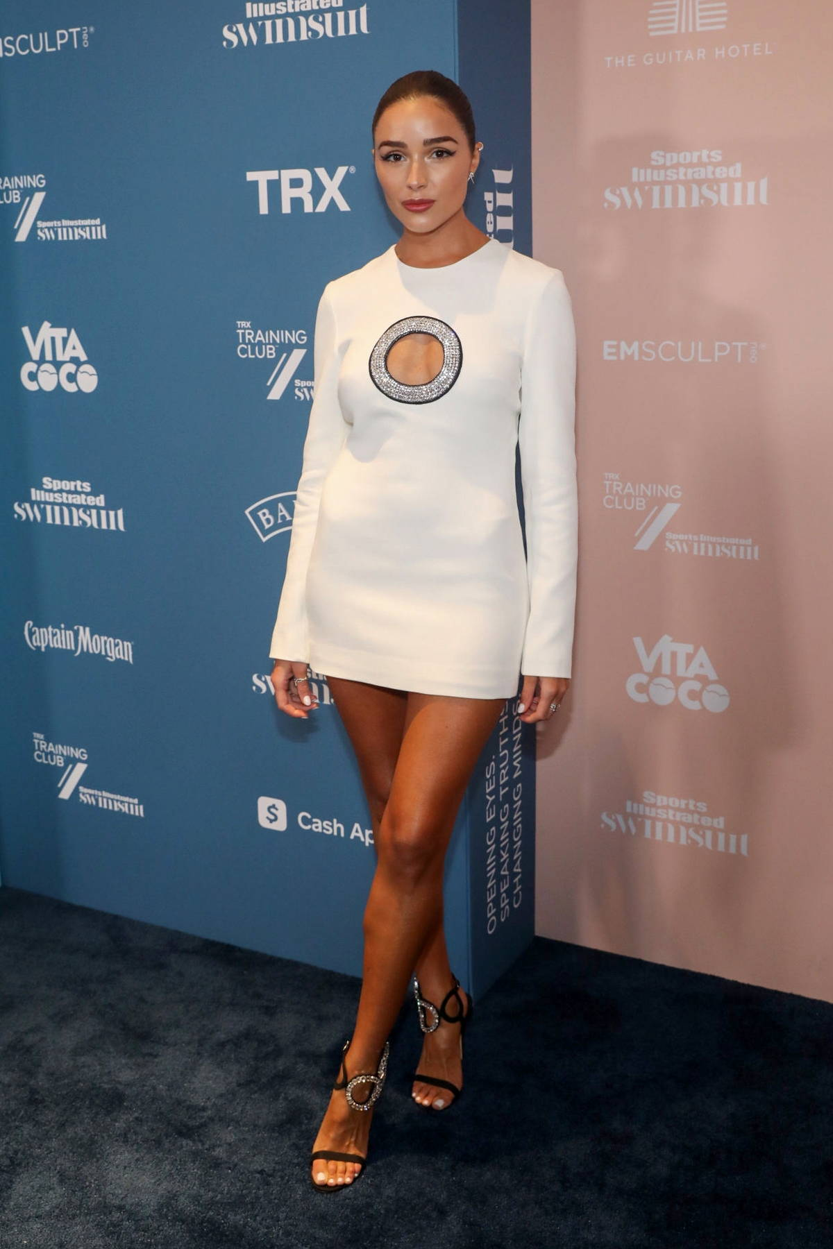 Olivia Culpo attends the Sports Illustrated Swimsuit 2021 Issue Concert at Hard Rock Live in Hollywood, Florida