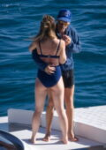 Olivia Wilde and Harry Styles soak up the Tuscany sun and enjoy a PDA-filled afternoon on a yacht in Argentario, Italy