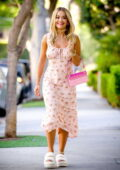 Rita Ora looks pretty in floral print dress while out in West Hollywood, California