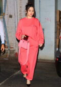 Selena Gomez looks pretty in pink as she leaves a late dinner at Wally's restaurant in Beverly Hills, California