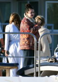 Selena Gomez spotted while enjoying a day on a yacht with friends in Los Angeles