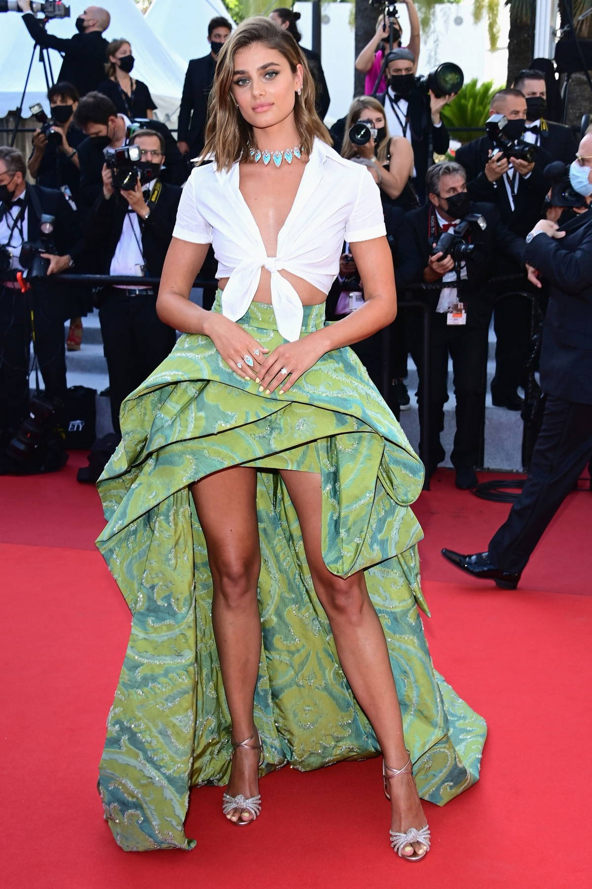 Taylor Hill attends the screening of 'Tre Piani' during the 74th annual Cannes Film Festival in Cannes, France