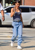 Teyana Taylor seen on the set of 'A Thousand and One' in Manhattan, New York City