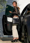 Addison Rae is all smiles as she arrives at a friend's house in West Hollywood, California