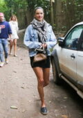 Alessandra Ambrosio looks stylish while out for a stroll with her friends in Trancoso, Brazil