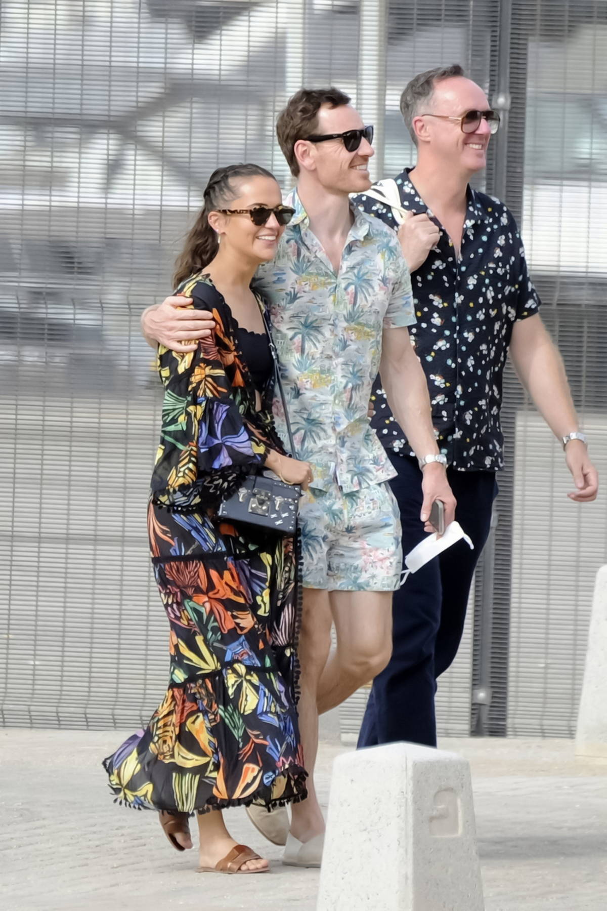 Alicia Vikander and Michael Fassbender step out for stroll with friends in Ibiza, Spain