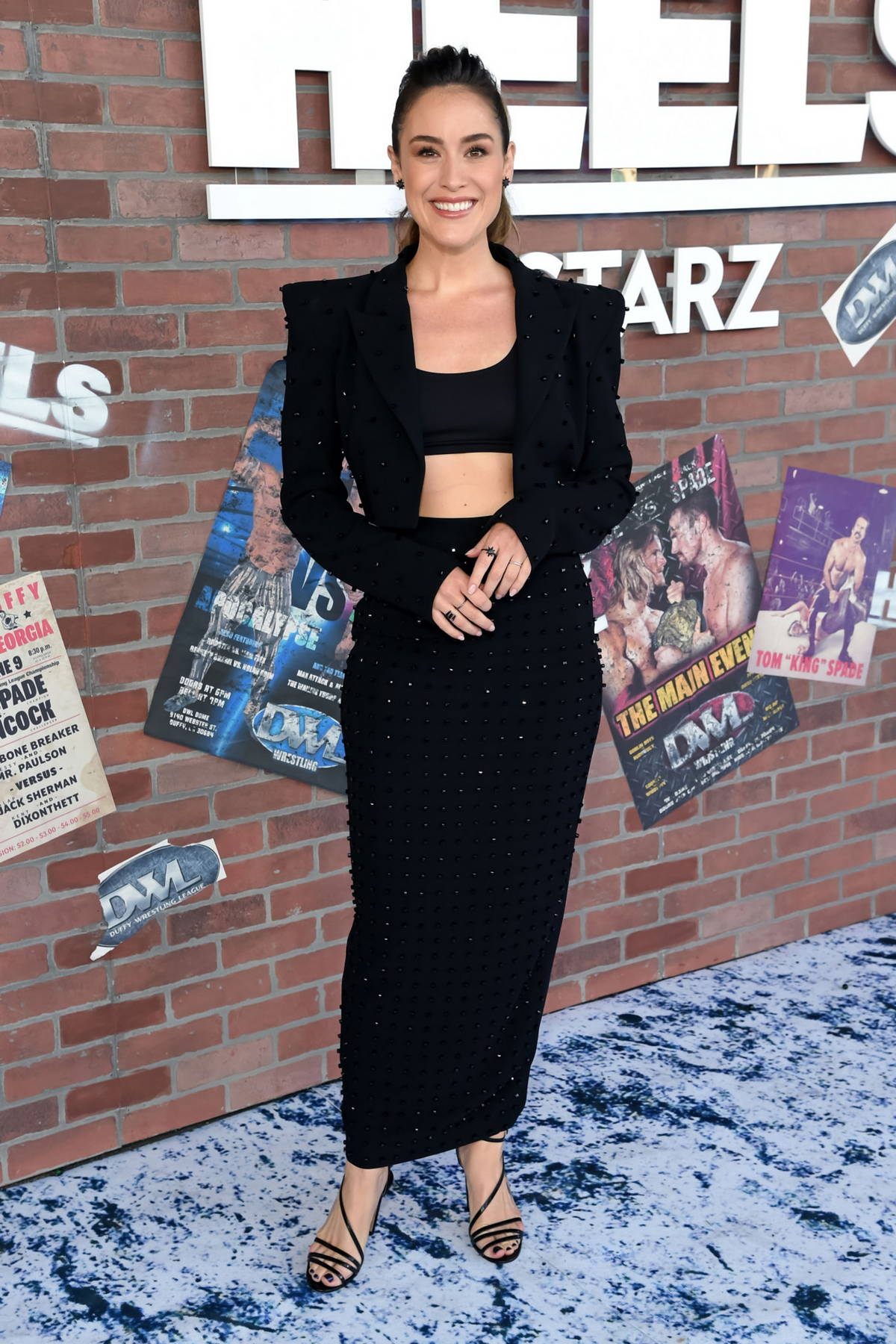 Alison Luff attends the Premiere of the new STARZ series 'Heels' in Los Angeles