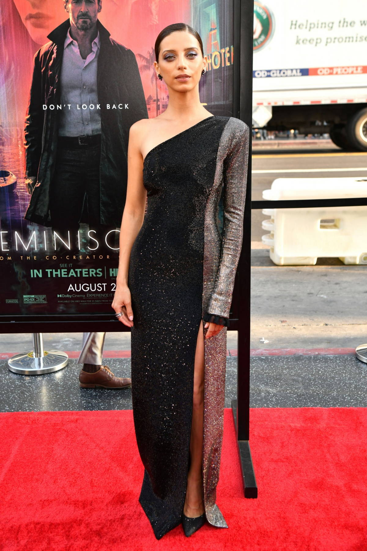 Angela Sarafyan attends the Premiere of 'Reminiscence' at TCL Chinese Theatre in Hollywood, California
