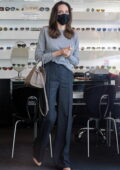 Angelina Jolie shops for sunglasses with her son Pax at Optometrix in Beverly Hills, California