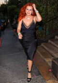 Bella Thorne looks ravishing in a black Gucci dress while leaving Le Petite Emeritage hotel in West Hollywood, California
