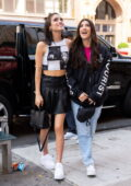 Charli and Dixie D'Amelio are all smiles as they step out for some shopping in Midtown, New York City