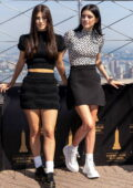 Charli and Dixie D'Amelio visit the Empire State Building with their parents in New York City