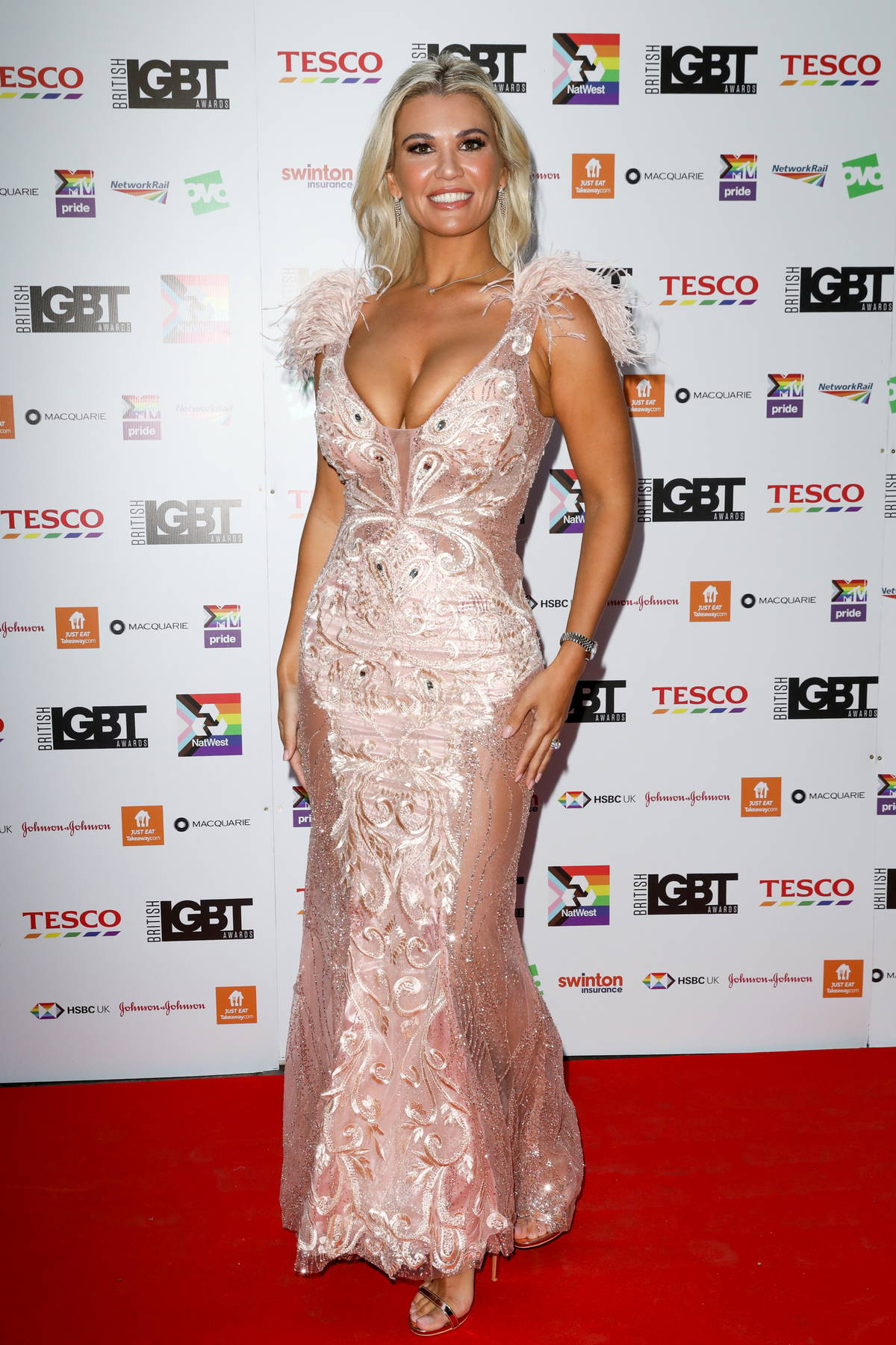 Christine McGuinness attends the British LGBT Awards 2021 at The Brewery in London, UK
