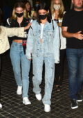Dixie D'Amelio dons double denim as she leaves dinner with friends in Los Angeles