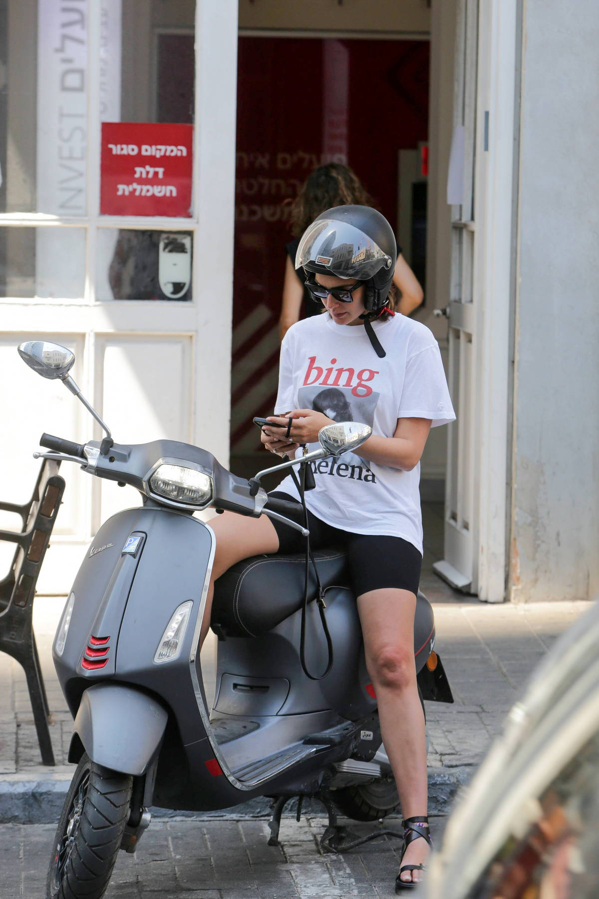 Gal Gadot spotted riding on the back of a Vespa with husband Yaron Varsano in Tel Aviv, Israel