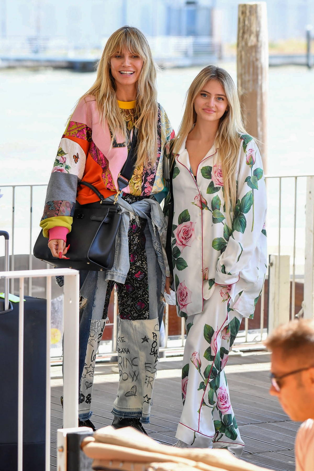 Heidi Klum and Leni Klum look stylish while arriving ahead of a Dolce and Gabbana event in Venice, Italy