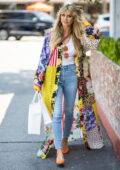 Heidi Klum puts on a colorful display while stepping out for some shopping in Los Angeles
