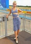 Iris Law attends the ABB FIA Formula E 2021 BMW i Berlin E-Prix in Berlin, Germany