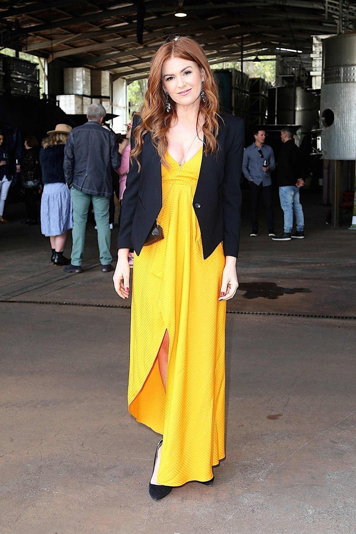 Isla Fisher attends the Forester Wine Tasting Event during the Cinefest Oz Film Festival in Yallingup Siding, Australia