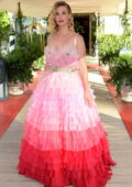 January Jones attends the Dolce & Gabbana fashion show in Venice, Italy