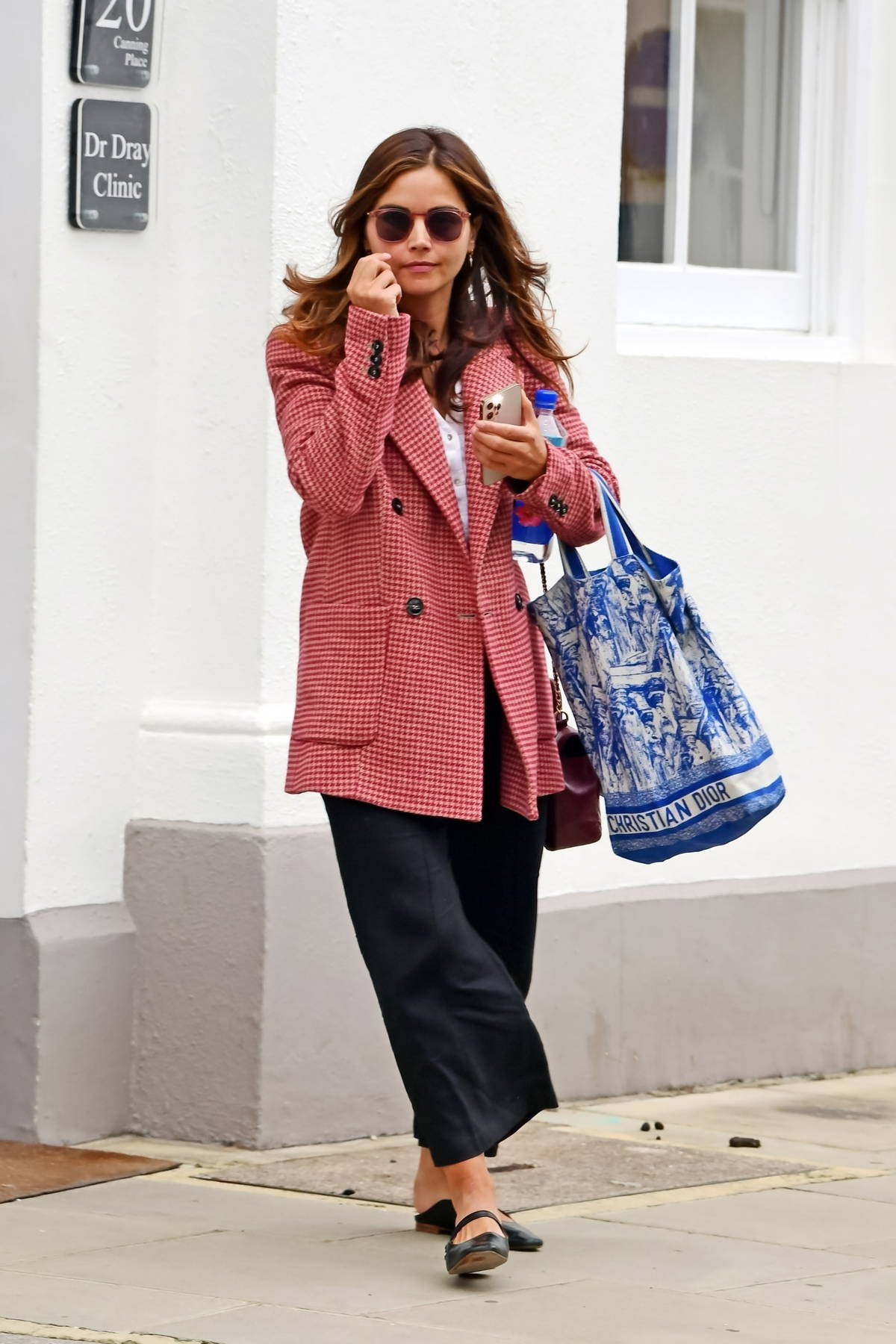 Jenna Coleman seen leaving Dr. Dray's Clinic in London, UK