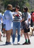 Jennifer Garner and her daughter Violet pick up her daughter Seraphina from summer camp in Los Angeles