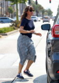 Jennifer Garner takes her daughter Seraphina for some shopping at Big 5 Sporting Goods in Los Angeles