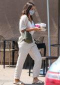 Jessica Alba makes a pitstop at Starbucks for drinks Playa Vista, California
