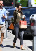 Jordana Brewster and boyfriend Mason Morfit spotted during a coffee run at the Country Mart in Brentwood, California
