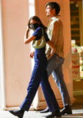 Kaia Gerber and Jacob Elordi hold hands while out for dinner date in Los Angeles