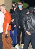 Kaia Gerber and Presley Gerber seen leaving after dinner at Nobu in Malibu, California